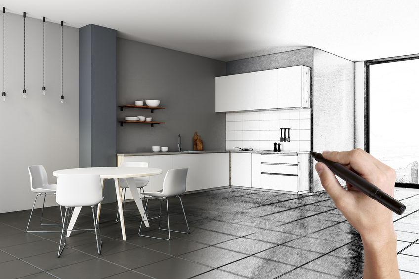 Keuken getekend 3d
