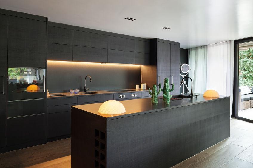 Zwarte keuken stijl