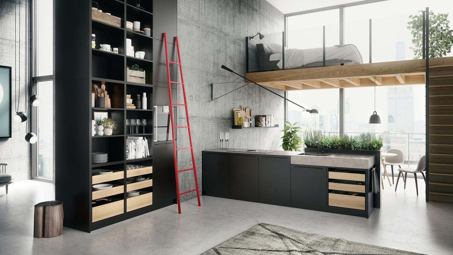 Donkere keuken Siematic
