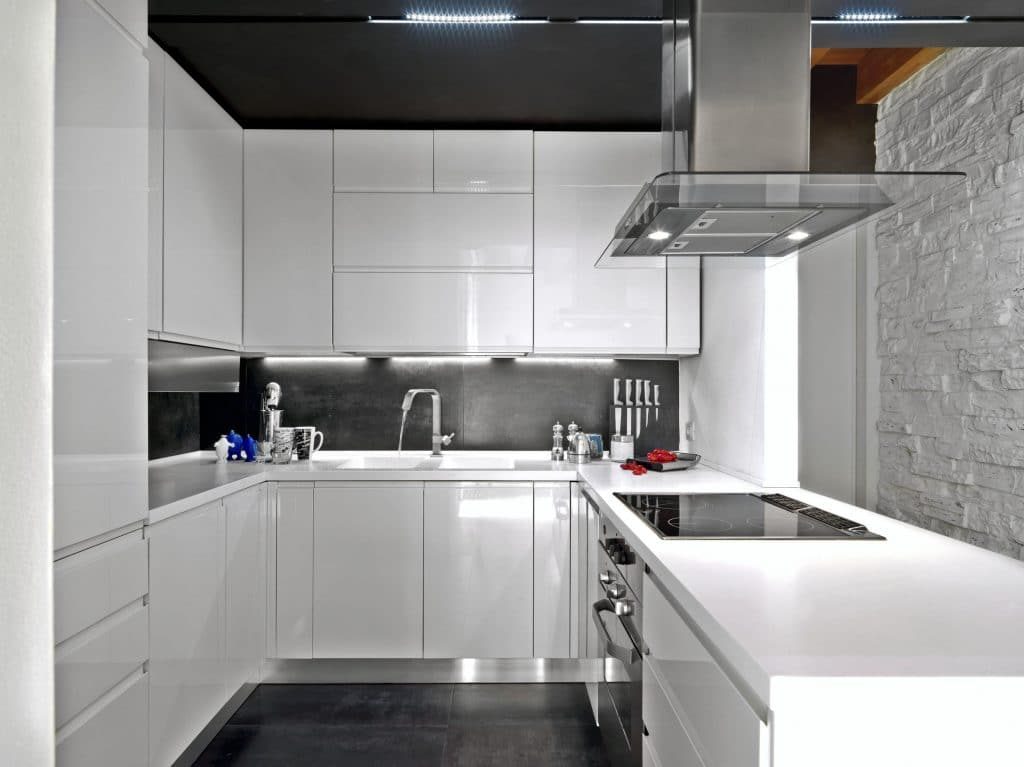 tiny house keuken met hoek