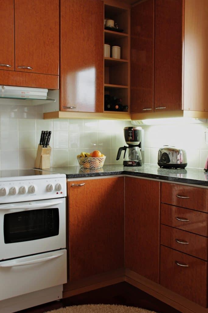 Keuken stickeren houtkleur