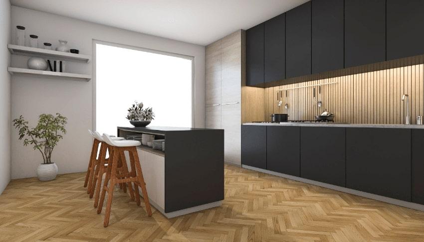 Bovenkast keuken of plank