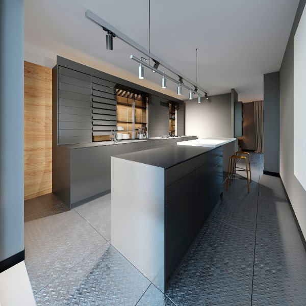Moderne greeploze keuken